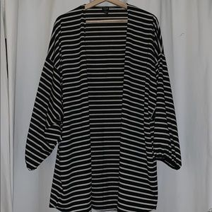 Anthro striped baggy cardigan